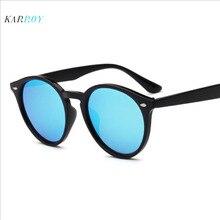 New Arrival Round Colorful Reflective Sunglasses Women Rivet UV400 Sun Glasses Polarized Men Eyeglasses
