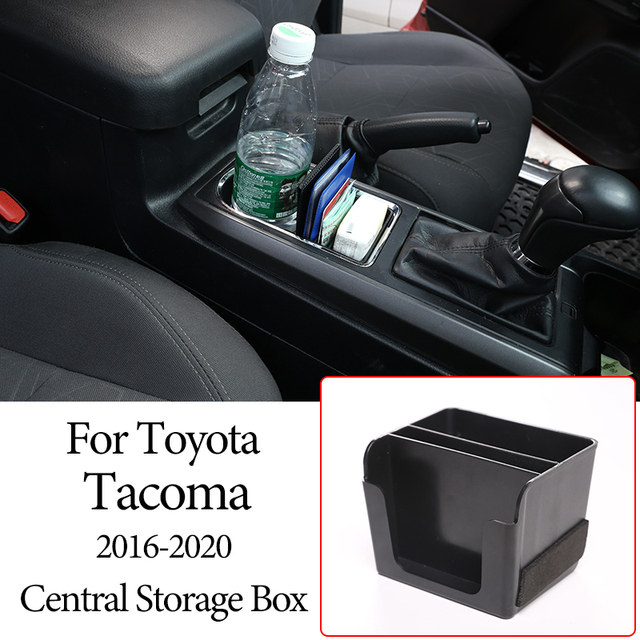 Car Central Console Compartment Storage Box Multifunction Storage Box Phone Tray Accessories Plastic for Toyota Tacoma 2016 2020