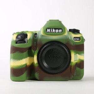 Силиконовая кожа брони корпус для DSLR камеры чехол для Nikon Z5 Z7 Z6 D780 D3500 D5300 D5500 D5600 D7100 D7200 D7500 D750 D3400|Сумки для фото-/видеокамеры|   | АлиЭкспресс