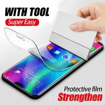 Перейти на Алиэкспресс и купить Мягкая Гидрогелевая ТПУ пленка для LG G8X Q70 K40S K50S W30 Pro Q60 K50 G8 G7 ThinQ V50 V40 полноэкранная Защитная нано пленка (не стекло)