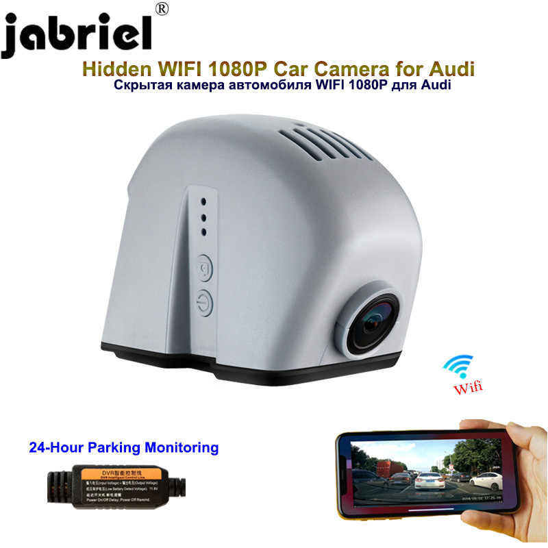 Jabriel auto Hidden 1080P Car Camera dash cam 24 Hour Recorder rear camera for audi a6 c5 c6 c7 a4 b6 b7 b8 q5 q7 a3 8p 8v a5 a1
