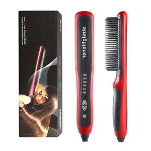 Hair Straightener Brush Electr
