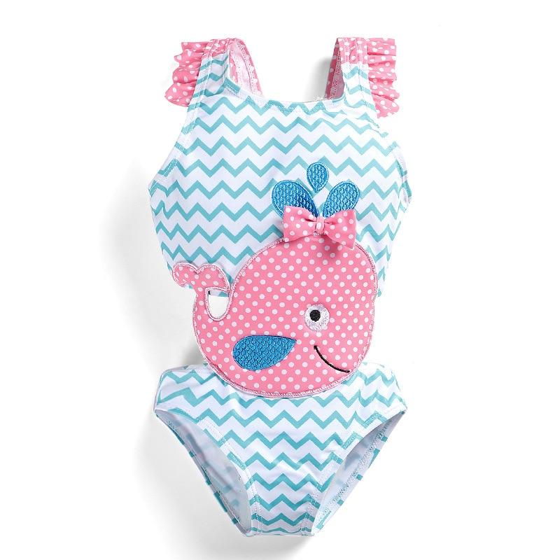 2019 New Products KID'S Swimwear Summer Swimming Size Child Whale Cute Baby Cartoon Girls' Jumpsuit Swimwear