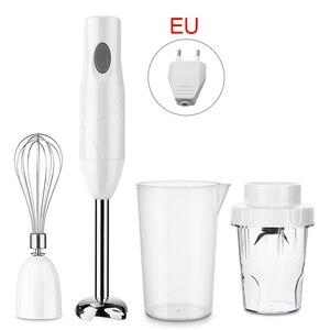 4-in-1 Hand Blender Stainless Steel Immersion Hand Stick Blender Vegetable Meat Grinder 600ML Stirring Cup Food Mixer Juicer