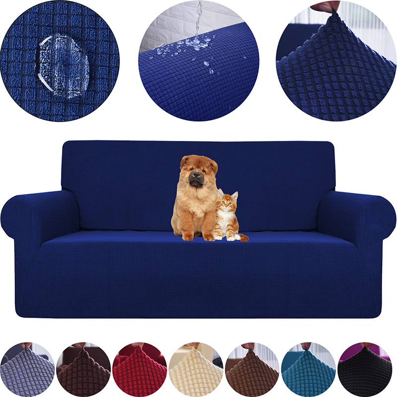 Sofa Cover Waterproof Sofa Covers For Living Room Stretch Elastic Corner Fleece Sofa Cover L Shape Set Furniture Protector