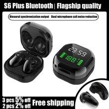 S6 Plus Tws Headsets Noise Cancelling Ohrhörer Drahtlose Bluetooth Kopfhörer Sport In Ohr knospen Für Samsung Galaxy Alle Smartphones