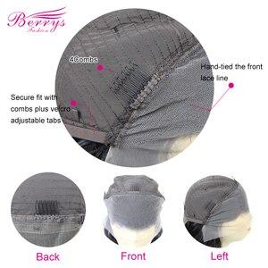 Image 3 - Kıvırcık insan saçı peruk ön koparıp ile bebek saç 13x4 dantel ön İnsan saç peruk siyah kadınlar için ön koparıp şeffaf dantel