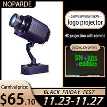 Ao ar livre à prova dwaterproof água led personalizado sinal de imagem girar remoto lâmpada de projeção logotipo publicidade personalizada luz do projetor