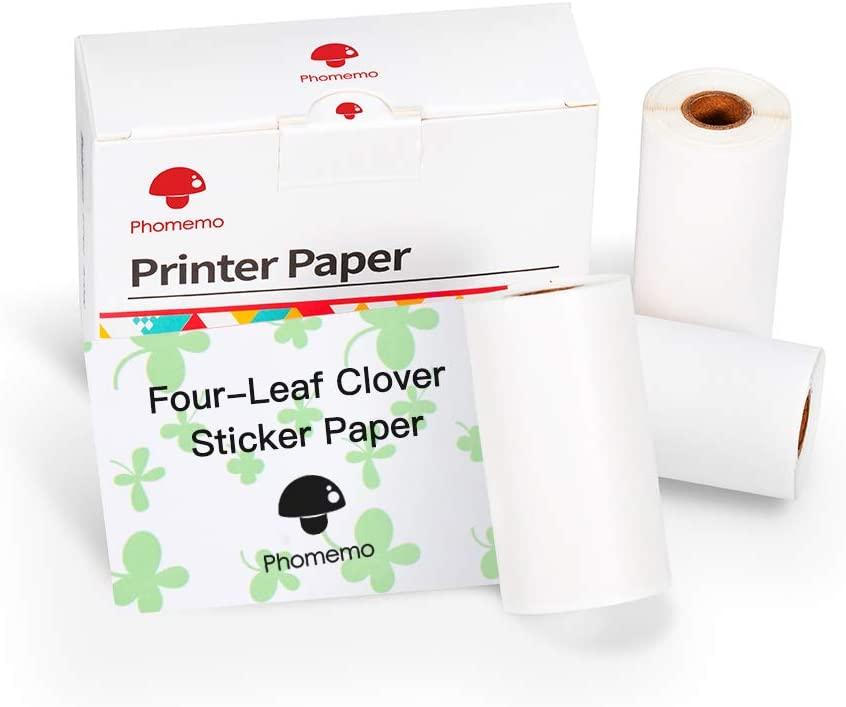 Phomemo Four-Leaf Clover Self-Adhesive Thermal Paper for Phomemo M02/M02 Pro/M02S Mini Bluetooth Pocket Printer