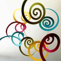 14 pz/pacco Soffitto Appeso Swirl Decorazione Metallic Foil Penzoloni Turbinii per Festa Nuziale di Compleanno Nursery Doccia