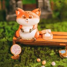Christmas Gift Fox Eats sesame seeds all over the world series Trendy Kid Doll ornaments Kawaii Toy Blind Random Box