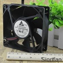 Para delta original afb1224vhe 24v 0.57a 12038 12cm duplo bola inversor ventilador teste de trabalho