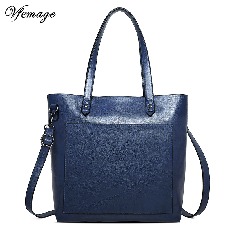 Vfemage Fashion Multifunction Female Shoulder Bags Large Capacity Women Crossbody Bags Solid Ladies Handbags Sac A Main 2019