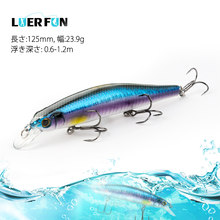 Luerfun Minnow Fishing lures 125mm 23.9g Suspending Crankbait High Quality Wobblers Fishing Bait Tackle New Design(China)