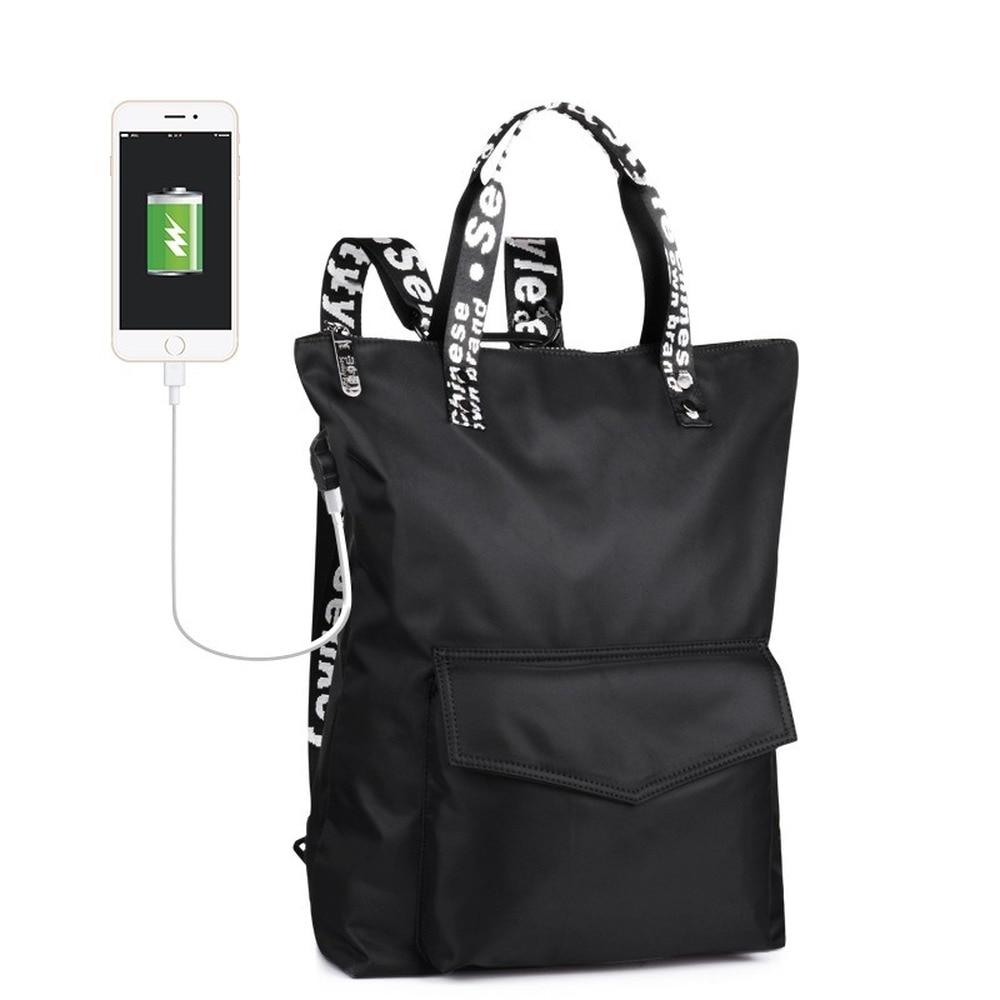 College Wind Backpack Waterproof Multifunction Bag Hand Bag Wild Students Shuang Bei Bao Bts Backpack  Kawaii Backpack
