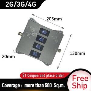 Image 4 - 850/900/1800/2100MHZ אותות בוסטרים GSM DCS WCDMA LTE 2G 3G 4G ארבעה Band נייד אותות בוסטרים 2g מהדר סלולארי 20dbi רווח