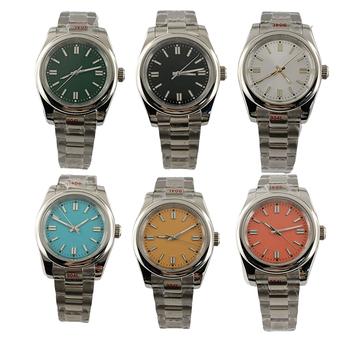 6 rodzajów Bliger sterylne 36mm 39mm czarny zielony niebieski srebrna tarcza NH35a męskie zegarki szafirowe szkło MIYOTA 8215 automatyczny zegarek męski tanie i dobre opinie 3Bar CN (pochodzenie) Zapięcie bransolety Moda casual Samoczynny naciąg 22cm STAINLESS STEEL Odporna na wstrząsy Automatyczna data
