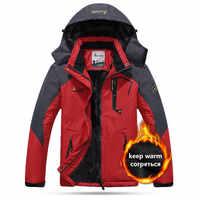 Chaqueta térmica cálida de invierno a prueba de agua para hombre y mujer, chaqueta de Camping para exteriores, para senderismo, esquí y pesca, 5XL