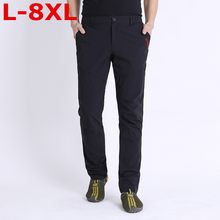 big size 8XL Men Tactical Pants Men's Cargo Pants Multi Pockets Slim Casual Pant Male Army Military Combat Trousers Quick drying(China)
