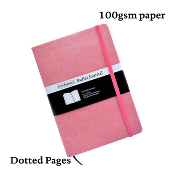 A5 Simple Candy Color Dotted NotebookDot Grid Journal Hard Cover 100gsm Travel Planner Diary