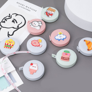 Novelty Cartoon Small Tape Measure Mini Portable Clothing Measuring Bust Waist Measurement Soft Ruler - discount item  40% OFF Drafting Supplies