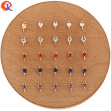 Cordial Design 100Pcs 5*9MM Jewelry Accessories/Crystal Jewelry Connectors/Heart Shape/Hand Made/DIY Making/Earring Findings