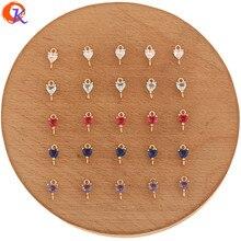 Hartelijke Ontwerp 100Pcs 5*9Mm Sieraden Accessoires/Crystal Sieraden Connectors/Hart Vorm/Hand Made/Diy Maken/Earring Bevindingen