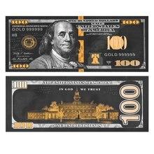 Античная черная Золотая фольга $100 памятные купюры на американские доллары сувенирные подарки коллекция банкнот в мире