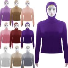 Islamic Clothing Tops Sunscreen Abayas Stretch Muslim T-Shirt Blouse Women Summer Pullover