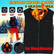 Electric USB Heated Vest Skiing Jackets Warm Up Heating Pad Cloth Body Warmer Men/Women