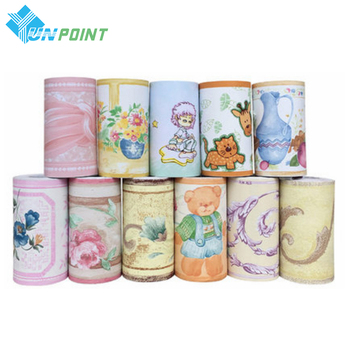 Diy Self-adhesive Cartoon Wallpaper Bedroom Kids Room Wall Decoration Corner Skirting Waist Line PVC Waterproof Wall Stickers beauty little girl wall sticker pvc wallstickers wall art wallpaper for kids room decoration waterproof adesivi murali lw588