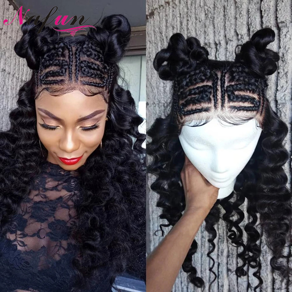 Deep Wave 13X4/13x6 Lace Front Wig Brazilian Wig Transparent Lace Wigs For Women Pre Plucked With Baby Hair 4x4 Lace Closure Wig
