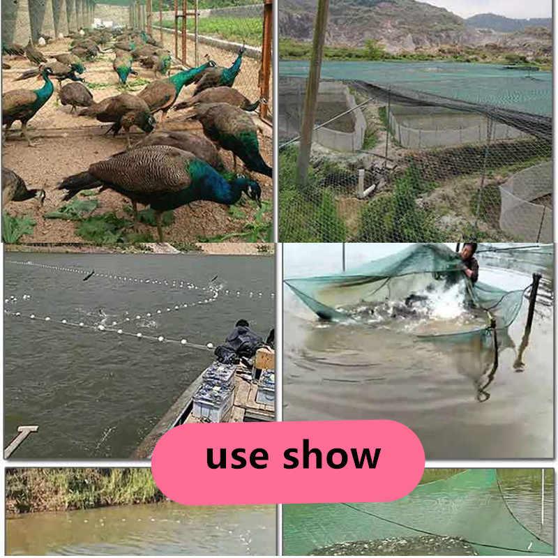 6 brins-24 brins Semi-fini produc réseau de pêche traw net monocouche outil de pêche cultures clôture filet Cage matériel