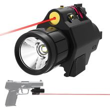 Тактический фонарик для оружия с радиоуправлением к Red Dot лазерный прицел военный страйкбольный пистолет свет охотничий фонарь для 20 мм Rail