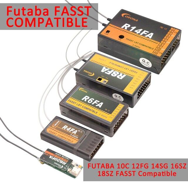 Corona R820FA F4FA R6FA F8FA R14FA 2.4Ghz FUTABA 10C 12FG 14SG 16SZ 18SZ FASST Compatible Receiver