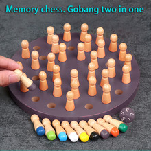 Kids Wooden Memory Chess Game Match Stick Fun Block Board Game Educational Color Cognitive Ability Family Toy juegos de mesa #C