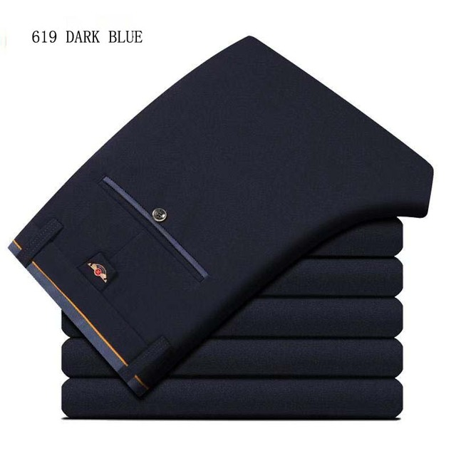 Men's Suit Pants Spring and Summer Male Dress Pants Business Office Elastic Wrinkle Resistant Big Size Classic Trousers Male 3