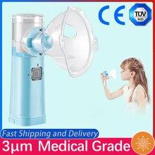 Mini nébuliseur portable de 3 μm de qualité médicale, nébuliseur ultrasonique, pour les enfants et les adultes, pour l'asthme