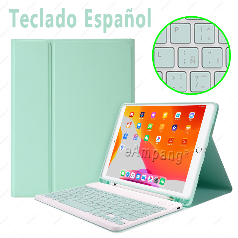 Spanish no Mouse Ivory Keyboard Case With Wireless Mouse For iPad Air 4 10 9 2020 4th Generation A2324 A2072