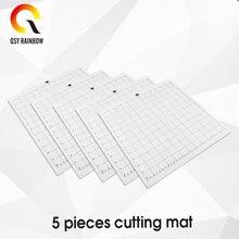 5 قطعة قطع حصيرة ل صورة ظلية النقش 3/2/1 [القياسية قبضة ، 12x12 بوصة ، 1 حزمة] لاصق و لزجة عدم الانزلاق مرنة قطع حصيرة