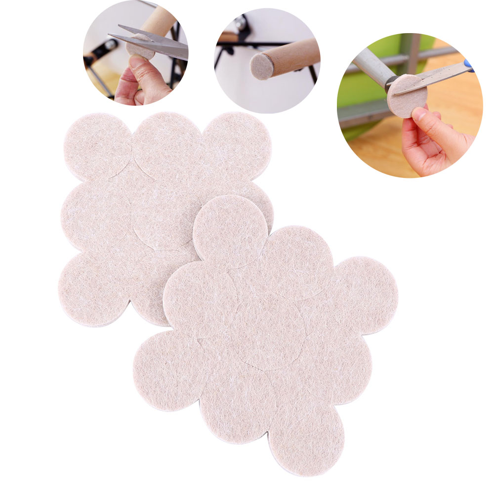 18PCS Oak Furniture Chair Table Leg Self Adhesive Felt Pads Wood Floor Protectors Anti Scratch Top Quality