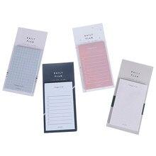 50 folhas para fazer lista notas bloco de notas bloco de notas auto-adesivo dia plano semana lista de artigos de papelaria de escritório