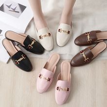 The spring of 2020 designer shoes woman slides outdoor platform slippers   square ladies mules zapatos de mujer