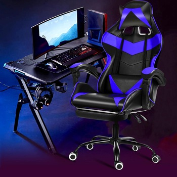 Computer Gaming Chair Lying Massage Lifting Rotatable Armchair Desk Chair Adjustable Swivel Leather Executive Office Chair 1