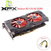 XFX AMD Radeon RX570 4GB DDR5 Graphics Card AMD GPU RX 570 4GB Gaming PC Video Card Gaming Computer PC Gamer Used RX 570 Cards