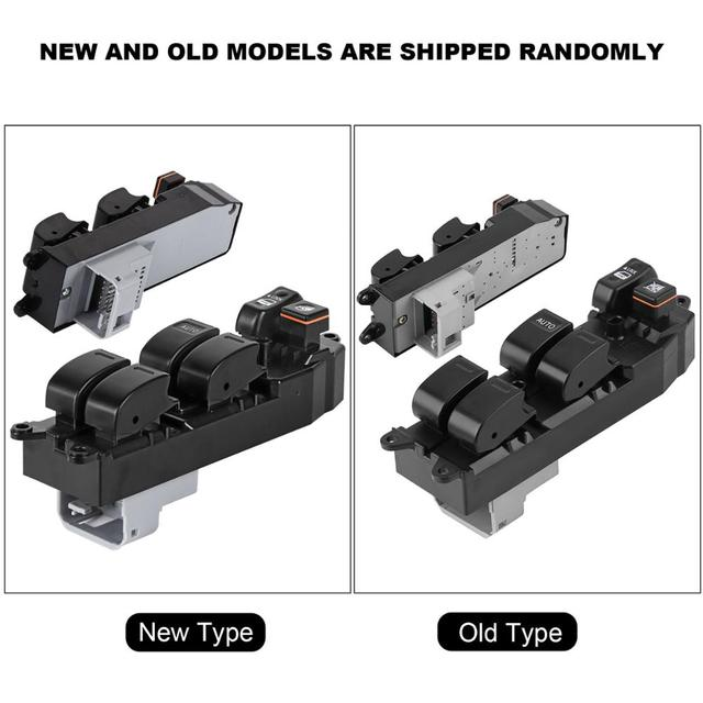 Power Window Switch for TOYOTA Fortuner Hilux 2004 2005 2006 2007 2008 2009 2010 2011 2012 2013 2014 2015 84820-0K100 Black