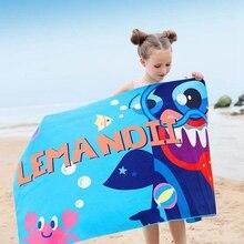 Детское купальное полотенце с цветочным принтом, быстросохнущее впитывающее полотенце легкий солнечный свет, пляжный костюм для плавания
