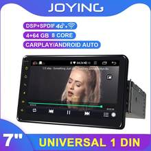 "Single Din 7 ""Universal Android cabeza de radio de coche unidad GPS Carplay DSP SPDIF SIM 4G WiFi Subwoofer DAB DVR(China)"