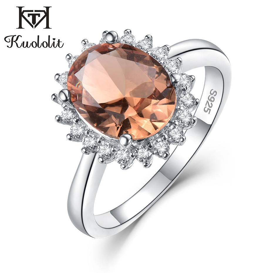Kuololit Zultanite Gemstone Ring For Women Solid 925 Sterling Silver Created Color Change Oval Cut Stone Ring Gifts Fine Jewelry