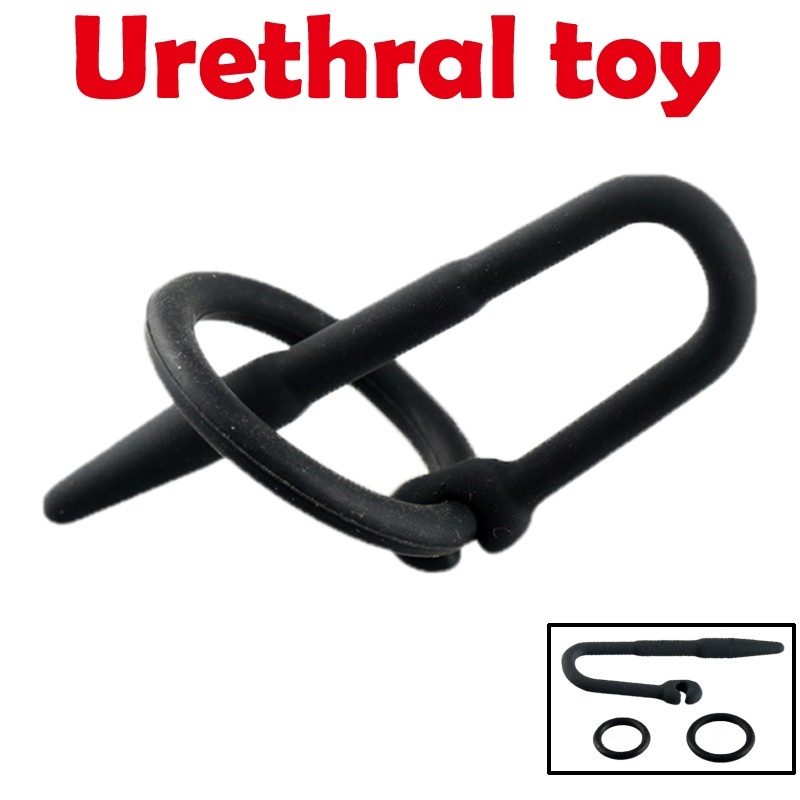 Silicone Urethral Sounds With Glans Ring Male Penis Plug Dilator Urethral Catheter Penis Sounding Sex Toy Men